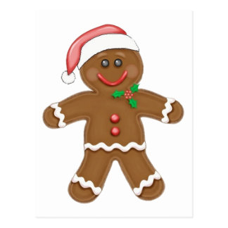 Christmas Gingerbread man Postcard