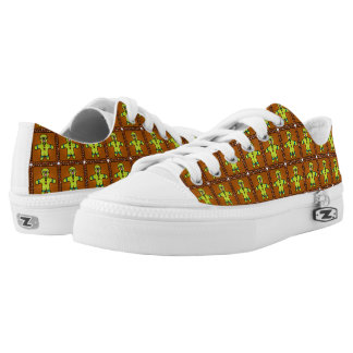 Christmas Gingerbread Man Shoes Printed Shoes