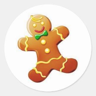 Christmas Gingerbread Man Sticker