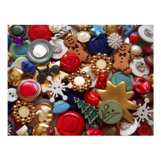 Christmas Gingerbread Men Buttons Postcard