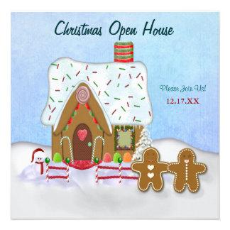 Christmas Gingerbread Open House Invitation Custom Invites