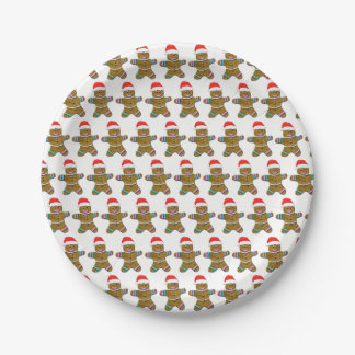 Christmas Gingerbread Paper Plate