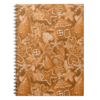 Christmas Gingerbread Pattern Notebook