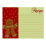 Christmas Gingerbread Recipe Cards