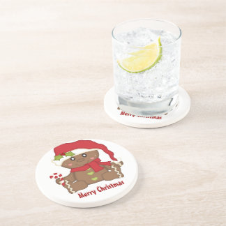 Christmas Gingerbread Sandstone Coaster