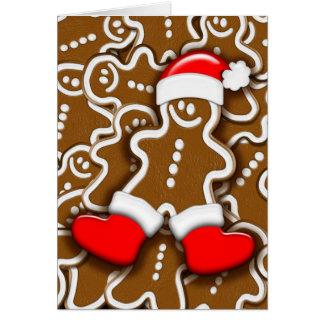 Christmas Gingerbread Santa Claus Card