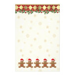 Christmas Gingerbread santa cookies Stationery
