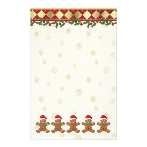 Christmas Gingerbread santa cookies Stationery