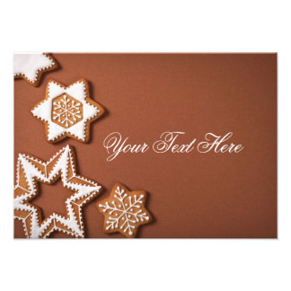 Christmas Gingerbread Stars On Brown Paper Photo