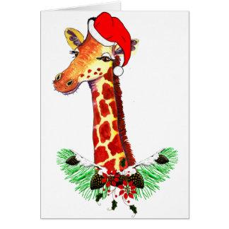 Christmas Giraffe Cards