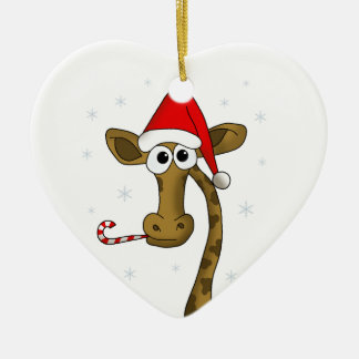 Christmas giraffe christmas ornament