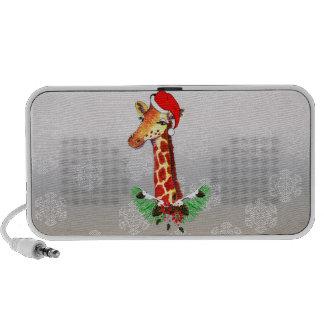 Christmas Giraffe iPod Speaker