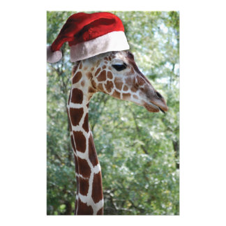 Christmas Giraffe Stationery