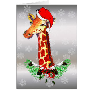 Christmas Giraffe Stationery Note Card