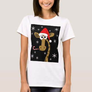 Christmas giraffe T-Shirt