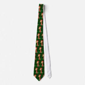 Christmas Giraffe Tie