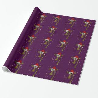 Christmas Giraffe Wrapping Paper