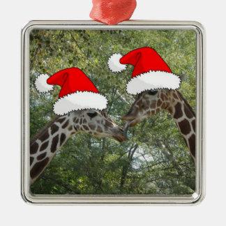 Christmas Giraffes Christmas Ornament