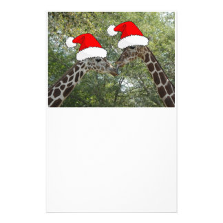 Christmas Giraffes Stationery Paper