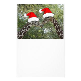 Christmas Giraffes Stationery