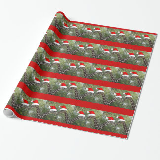 Christmas Giraffes Wrapping Paper