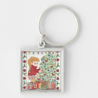 Christmas girl 1 premium keychain