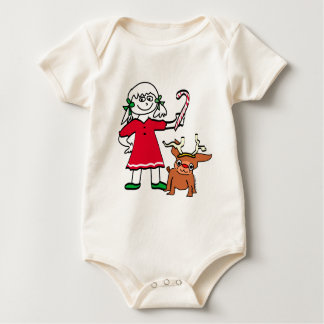 Christmas Girl Baby Clothes Baby Bodysuit