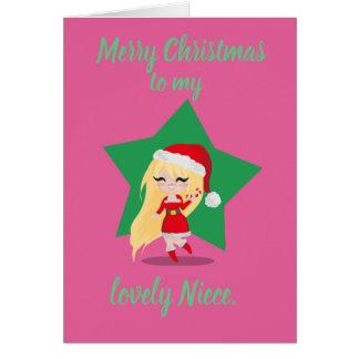 Christmas Girl. Card