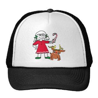 Christmas Girl Trucker Hats