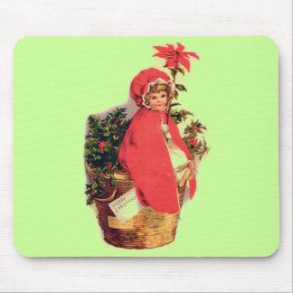 Christmas Girl Mouse Pad