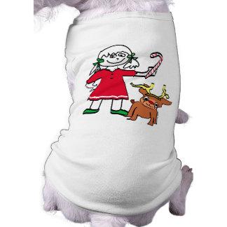 Christmas Girl Pet Shirt