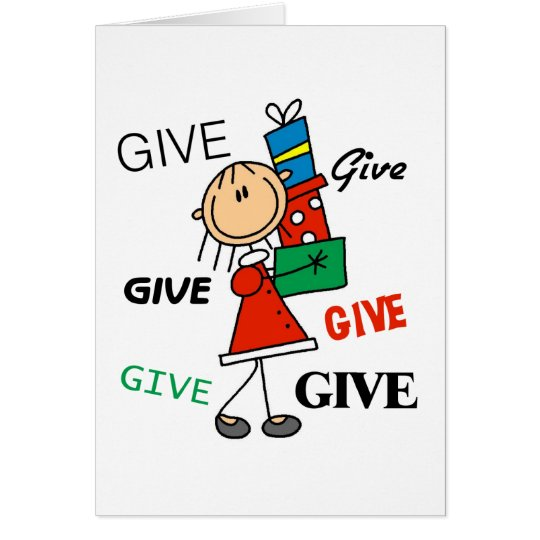 Christmas Give Give Give Tshirts and Gifts Card