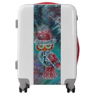 Christmas Glamour Fashion Santa Owl Luggage