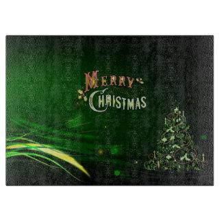 Christmas Glass Cutting Board/Christmas Tree Cutting Board