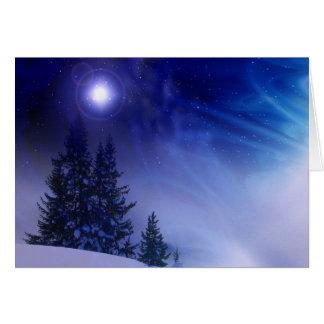 Christmas glow card
