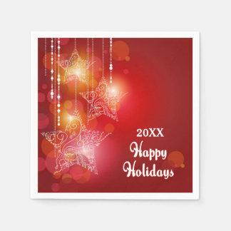 Christmas Glow Hanging Stars Paper Napkin