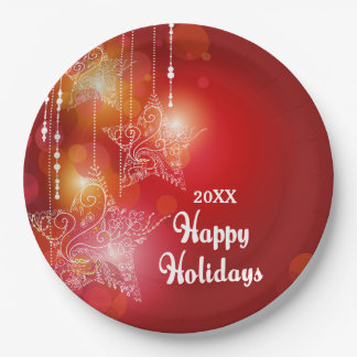 Christmas Glow Hanging Stars Paper Plate