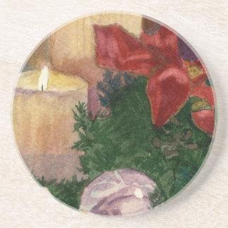 Christmas Glow Sandstone Coaster