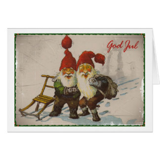 Christmas Gnome Friends Card