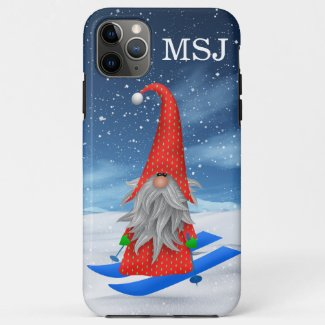 Christmas Gnome Monogram Case-Mate iPhone Case