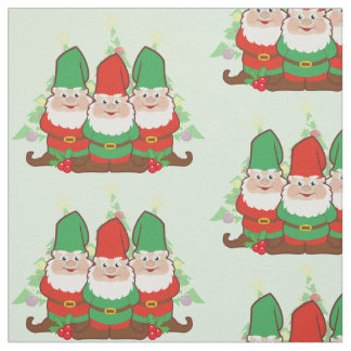 Christmas Gnomes Fabric