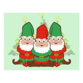 Christmas Gnomes Postcard