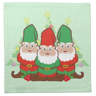 Christmas Gnomes Printed Napkins