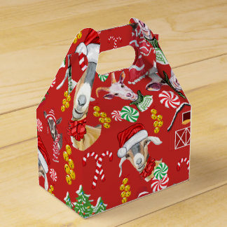 Christmas GOATS Candy and Jingle Bells GetYerGoat™ Favour Box