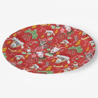 Christmas GOATS Candy and Jingle Bells GetYerGoat™ Paper Plate