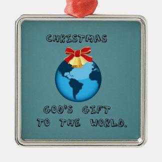 Christmas; God's Gift to the World. Christmas Ornament