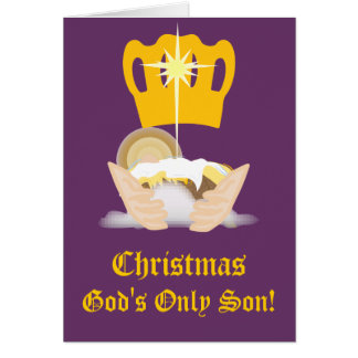 Christmas God's Only Son-Customize Greeting Card