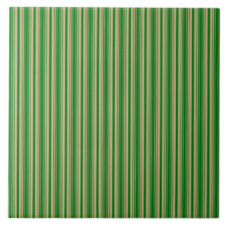 Christmas Gold and Christmas Green Stripes Tiles