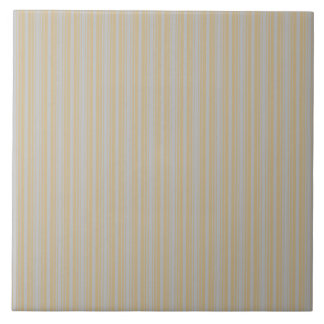 Christmas Gold and Christmas Silver Stripes Ceramic Tile
