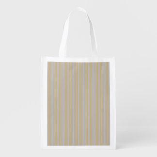 Christmas Gold and Christmas Silver Stripes Reusable Grocery Bags